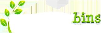 Green Away Bins Logo White Text